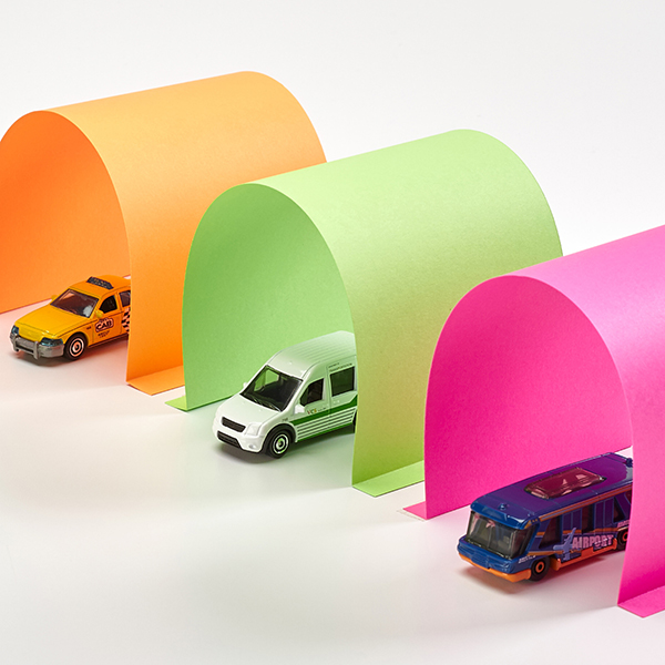 DIY Paper Car Tunnels