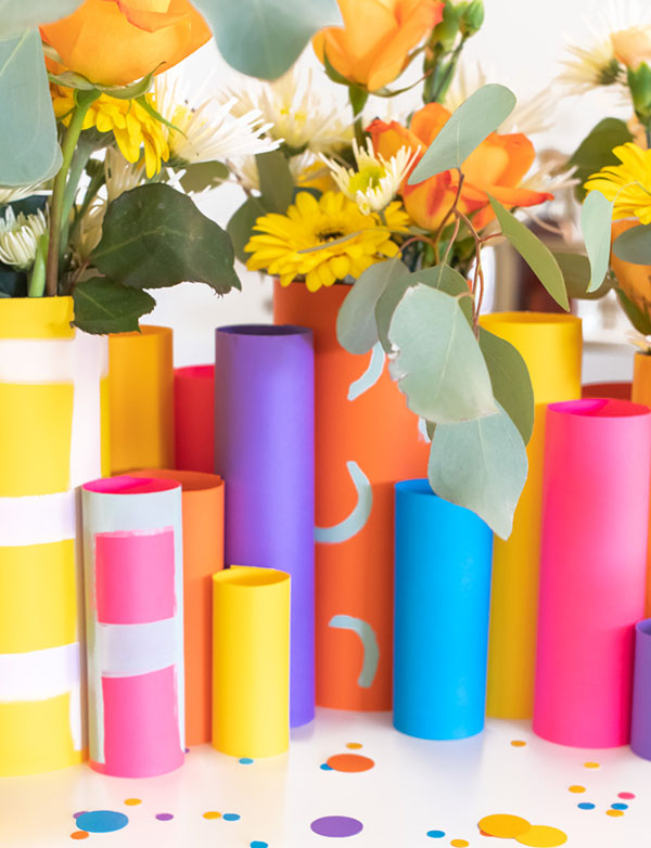 Burst of Spring Paper Vases