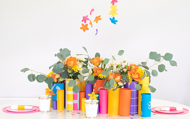 Burst of Spring Paper Tablescape Decor