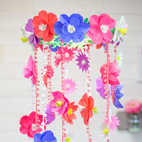 DIY Paper Flower Mobile Template
