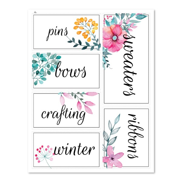 Floral Organization Labels