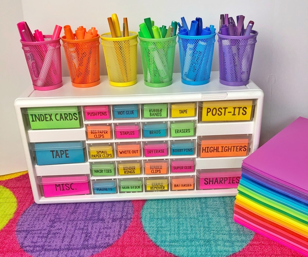 Classroom Organization with Astrobrights