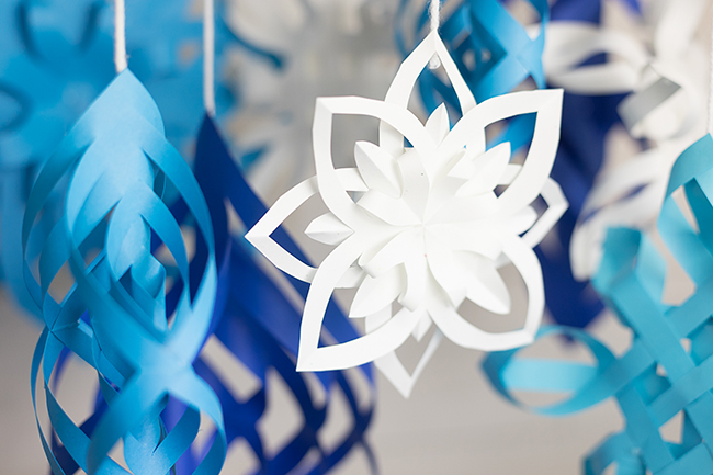 Astrobrights Colorful DIY Paper Snowflakes