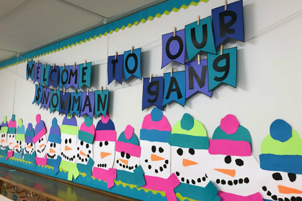 Snowman Bulletin Board Colorize Your Classroom Astrobrights