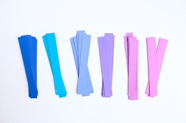 Strips of Astrobrights Cardstock