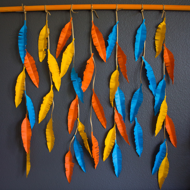 Feather Wall Hanging With Adhesive Strips