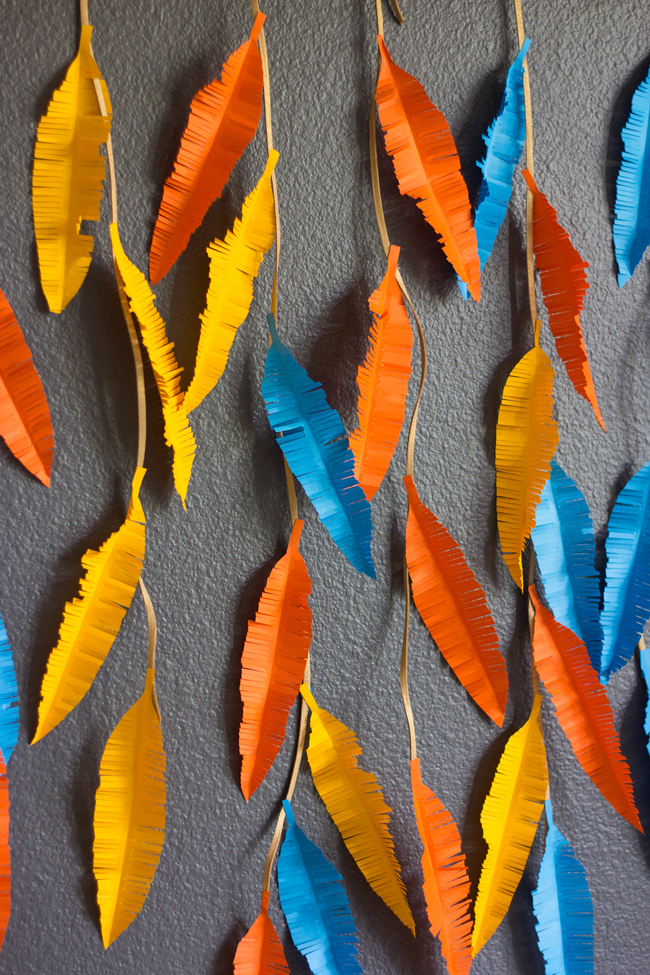 Astrobrights Paper Feather Wall Hanging