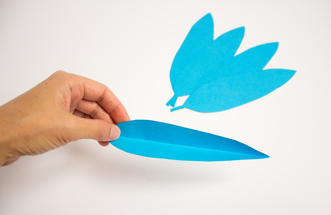 Bended Paper Feather