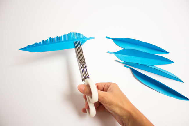 Fringed Paper Feathers