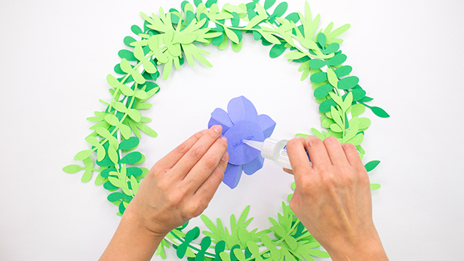 Paper Flower Mobile Craft