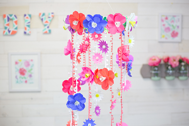 DIY Paper Flower Mobile Astrobrights