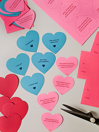 DIY Valentine's Day Hearts Cards