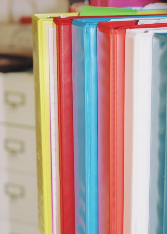 Color-Coded Binders for Classroom Organization