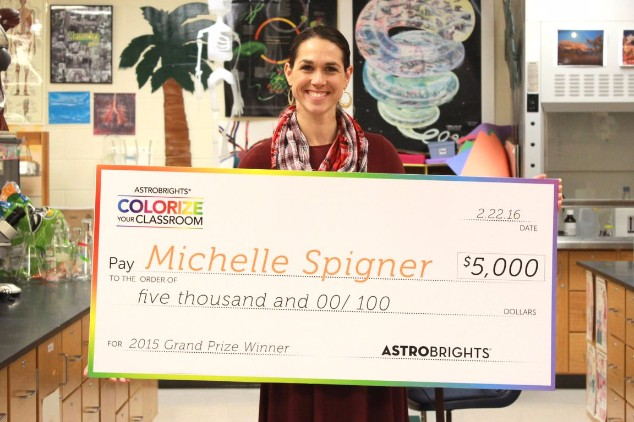 Astrobright's Brightest Teacher Michelle Spigner