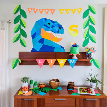 Paper Dinosaur Party Ideas