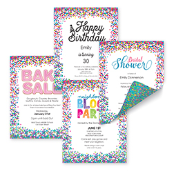 Confetti Template Samples - 91278