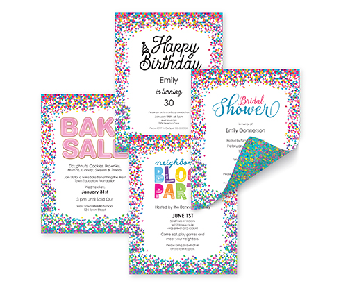 Confetti Template Samples - Main - 91278