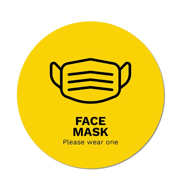 Face Mask Sign Template
