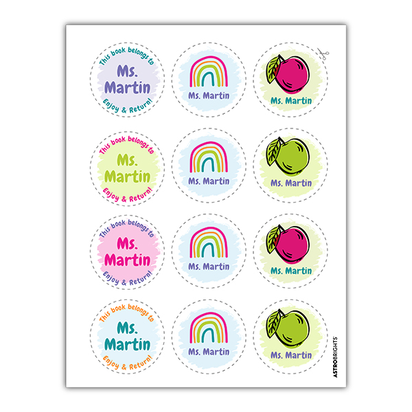 Brightest Teacher Round Labels