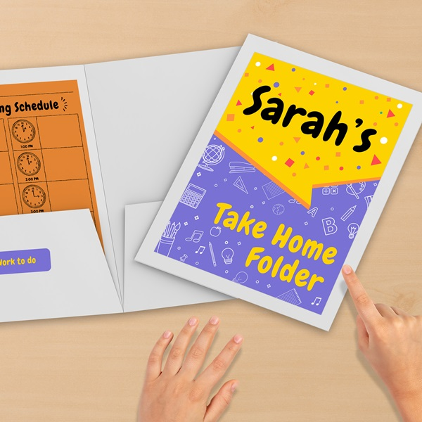 Take Home Folders Labels