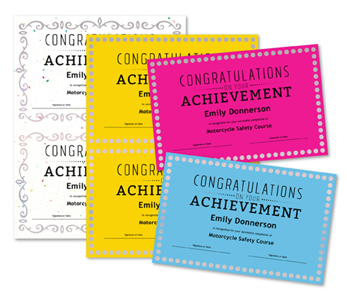 congratulations on your achievement certificate business
