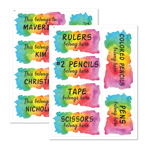 grid chart teacher organization watercolor